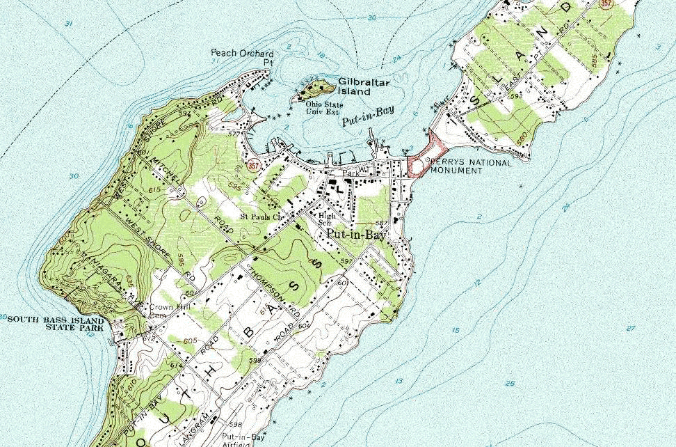 Put-in-Bay Map
