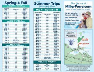 Miller Ferry 2020 Schedule