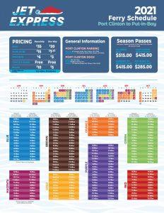 Jet Express 2021 Schedule summer
